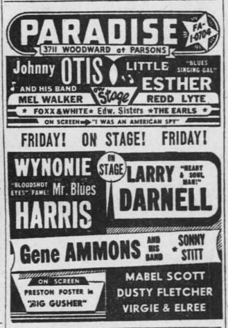 Larry Darnell / Wynonie Harris | The Concert Database