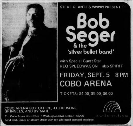 Bob seger tour dates