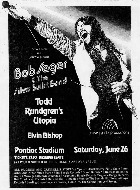 Bob Seger & the Silver Bullet Band   The Concert Database