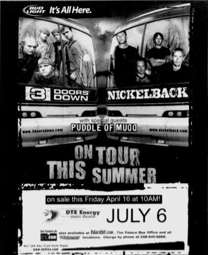 3 Doors Down / Nickelback  sc 1 st  The Concert Database & 3 Doors Down / Nickelback   The Concert Database pezcame.com